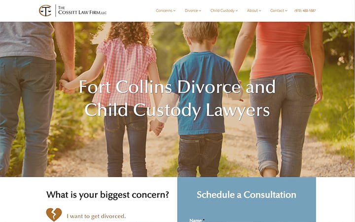 cossittfamilylaw.com website screenshot