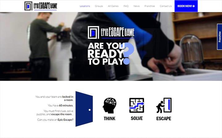 epicescapegame.com website screenshot
