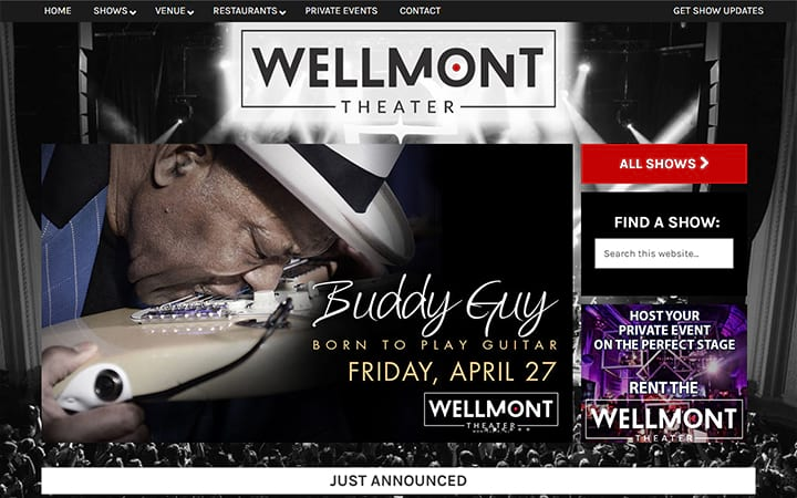 wellmonttheater.com website screenshot