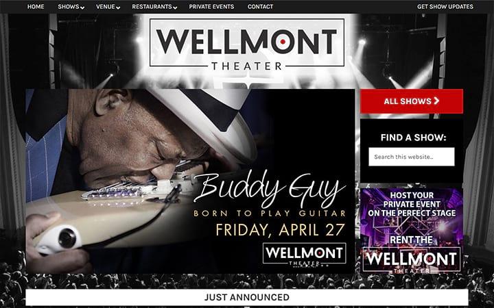 wellmonttheater.com website screenshot