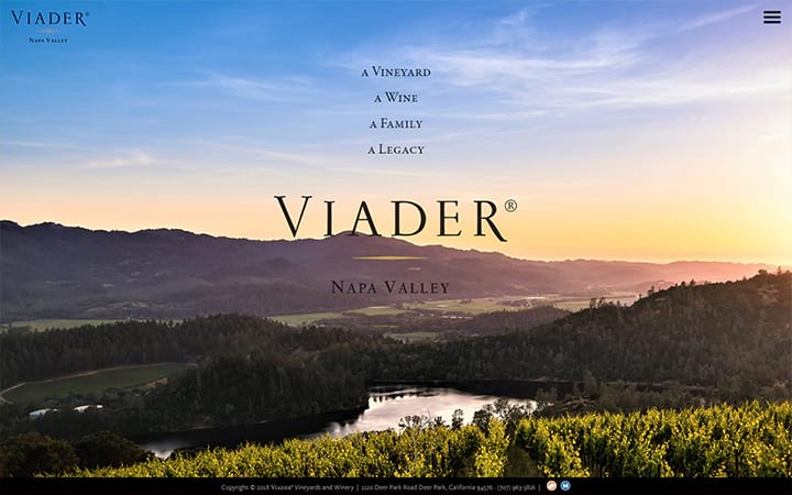 viader.com website screenshot