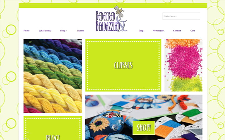 bedeckedandbeadazzled.com website screenshot