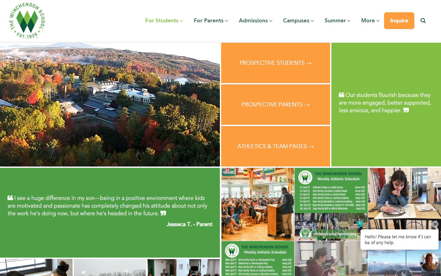 winchendon.org website screenshot