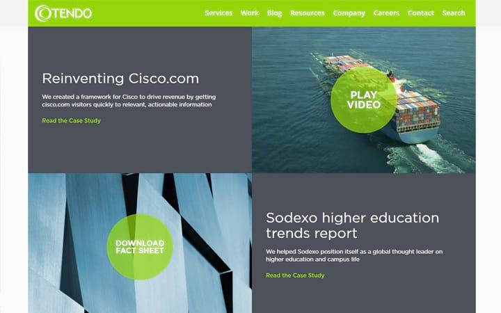 tendocom.com website screenshot