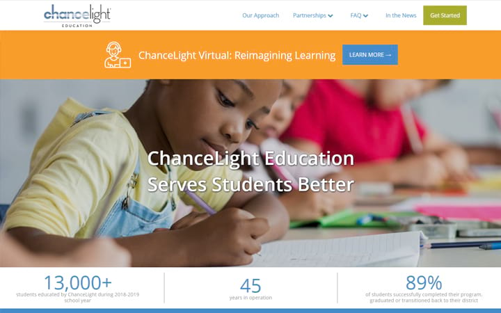 education.chancelight.org website screenshot